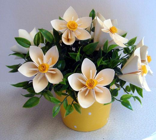 Цветы искусственные в горшке своими руками