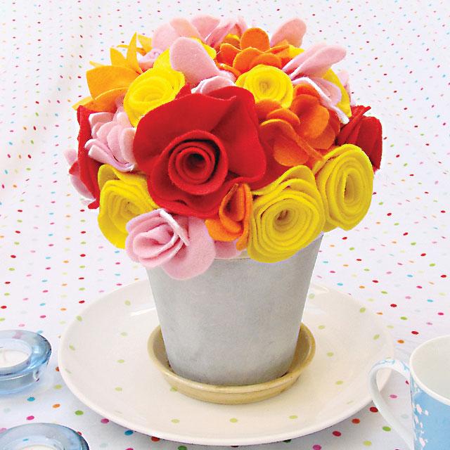 Цветы из ткани своими руками в вазу 86