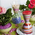 Цветной песок для украшения дома