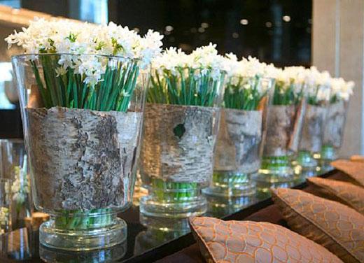 Идеи букетов в стеклянных вазах