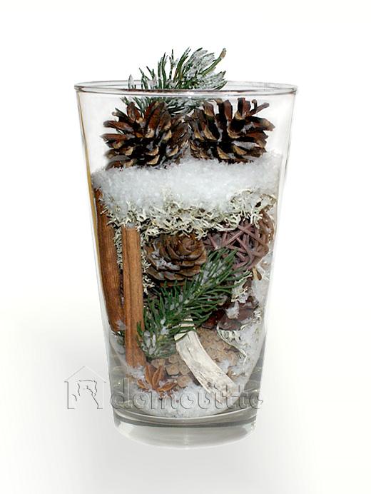 Новогодние композиции в вазах своими руками