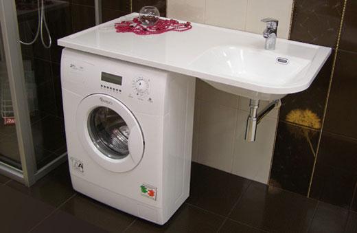 Стиральную машину в маленькой ванной