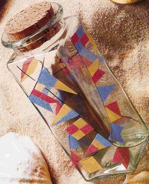 рисунки на стекле цветным песком