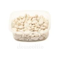 Галька декоративная белая, 0,5-12 мм (325 гр)