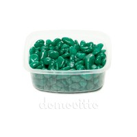 Галька декоративная изумрудная, 0,5-12 мм (325 гр)