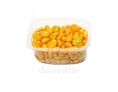 Галька декоративная желтая, 0,5-12 мм (325 гр)