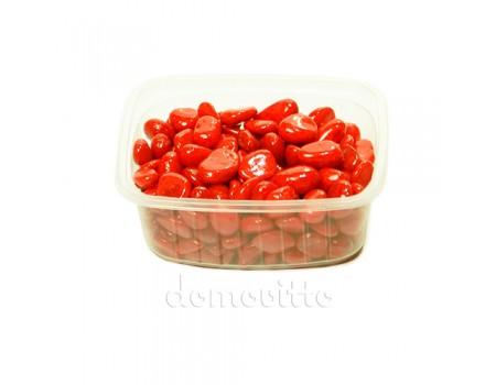 Галька декоративная красная, 0,5-12 мм (325 гр)