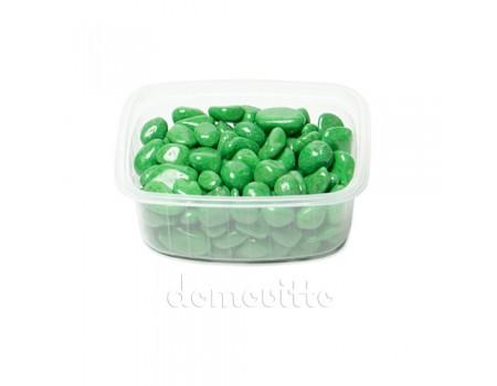 Галька декоративная салатовая, 0,5-12 мм (325 гр)