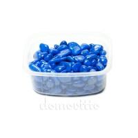 Галька декоративная синяя, 0,5-12 мм (325 гр)