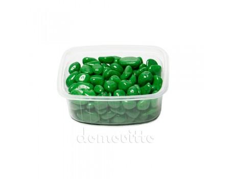 Галька декоративная зеленая, 0,5-12 мм (325 гр)