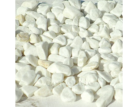 Грунт морской белый окатаный 5-10 мм, 1 кг