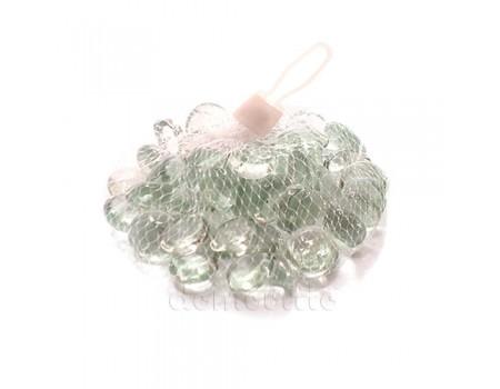 Набор прозрачных стеклянных камушков, 200 гр