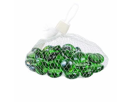 Стеклянные камушки светло-зеленые, 200 гр