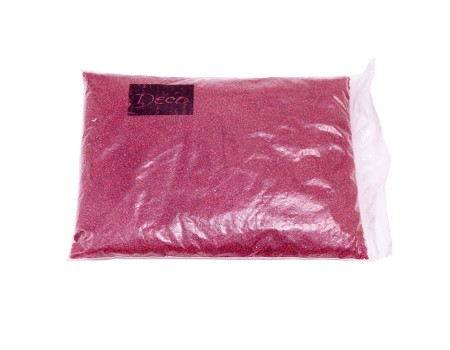 Песок крупный бордовый, 1,2-1,8 мм (1 кг)