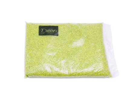 Песок крупный салатовый, 1,2-1,8 мм (1 кг)
