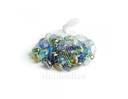 """Стеклянные камушки """"Микс цветной"""", 200 гр"""