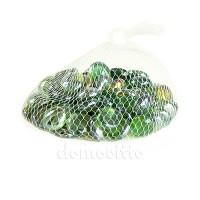 Стеклянные камушки зеленые, 250 гр