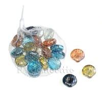 Набор декоративных стеклянных ракушек, 250 гр