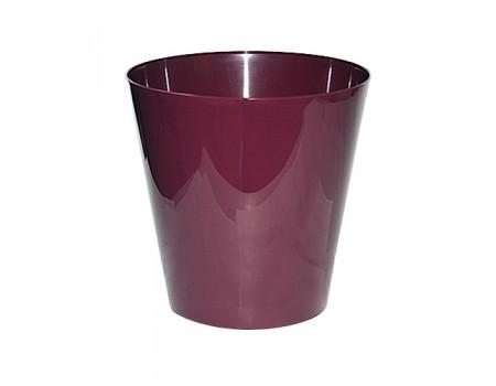 """Кашпо """"Вулкан"""", пластик. Цвет: Фиолетовый"""
