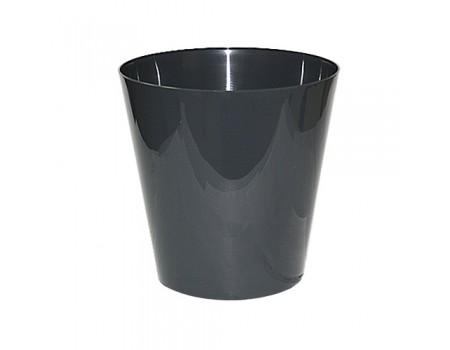 "Кашпо ""Вулкан"", пластик. Цвет: Серый"