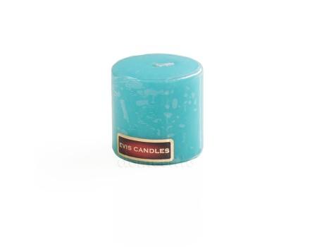 Свеча столбик малая, 5 х 5 см. Цвет: Бирюзовый