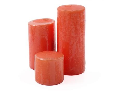Свеча столбик оранжевая. Размеры: 5 см/9 см/12 см