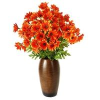 Букет хризантемы оранжевый, 46 см