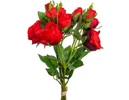 Искусственные розы: букетик из трех веточек, 43 см