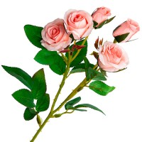 Ветка розы небольшая искусственная, 42 см. Разные цвета