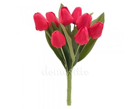 Букет тюльпанов искусственный, 32 см. Цвет: Красный