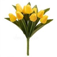 Букет тюльпанов искусственный, 32 см. Цвет: Желтый