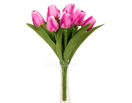 Букет тюльпанов искусственный, 32 см. Цвет: Розовый