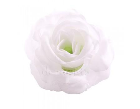 Голова розы искусственная белая, 12 см