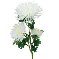 Хризантема искусственная белая, 90 см
