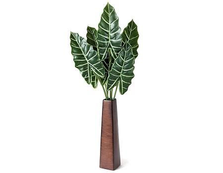 Листья алоказии искусственные, 70 см
