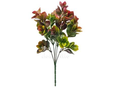 Кустик с зелено-коричневыми листьями пластик, 34 см