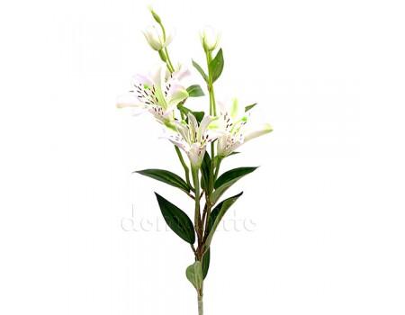 Лилия искусственная белая, 80 см