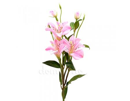 Лилия искусственная розовая, 80 см