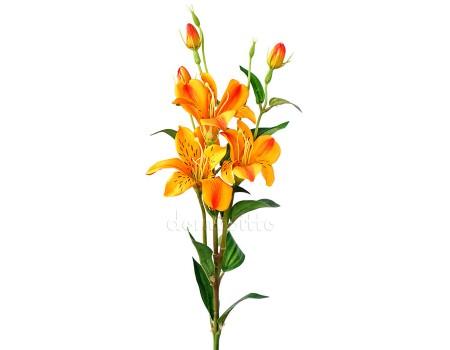 Лилия искусственная оранжевая, 80 см