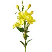 Лилия искусственная желтая, 76 см