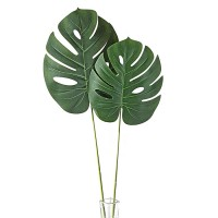 Лист монстеры искусственный зеленый, 68 см / 72 см