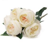 Роза пионовидная кремовая, 43 см