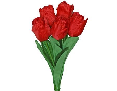 Букет тюльпанов большой 5 шт, 75 см. Цвета: Красный, Желтый