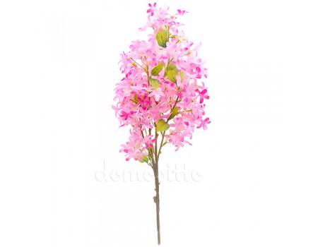 Ветка в цветах искусственная розовая, 55 см