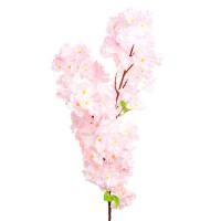 Ветка яблони искусственная, 110 см. Цвета: Белый, Розовый