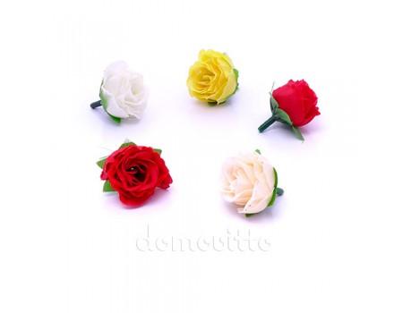 Бутончики розы мелкие, 4 см. Разные цвета