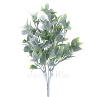 Кустик искусственный Фикус Бенджамина (с белым напылением), 35 см