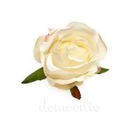 """Голова розы """"Бутон белый"""", d9 см"""