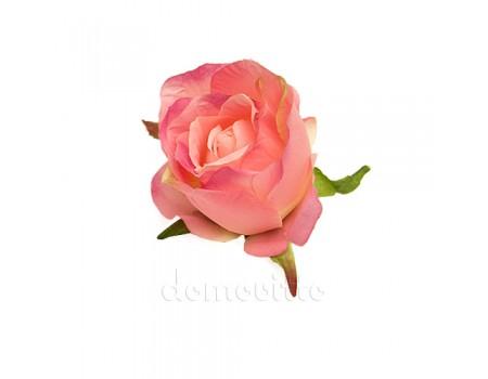 """Голова розы """"Бутон розовый"""", d9 см"""