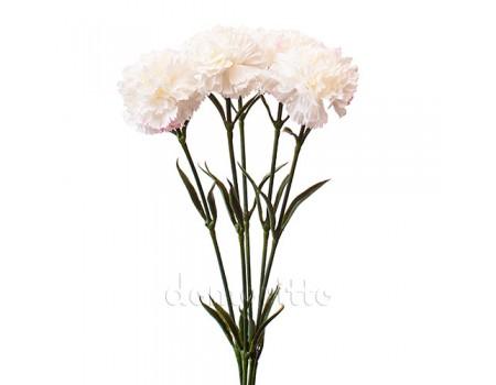 Гвоздика одиночка искусственная белая, 60 см